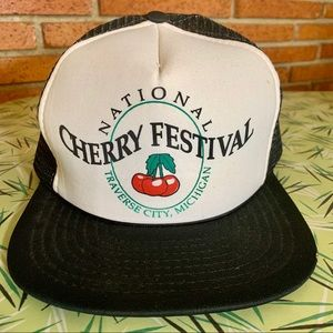 Vintage Michigan Cherry Fest Trucker SnapBack Hat